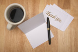 Thank You Note & Coffee poster