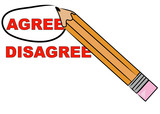 pencil choosing to circle the word agree poster