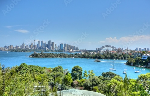 canvas print picture Skyline Sydney - HDR