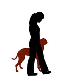 Hundetraining (Obedience), Befehl Fuß! poster