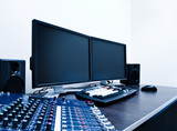 video editing workstation poster