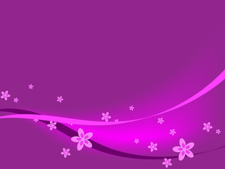 Purple Flowers & Ribbons