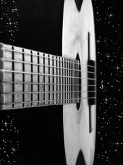 Guitar Floating Through Space