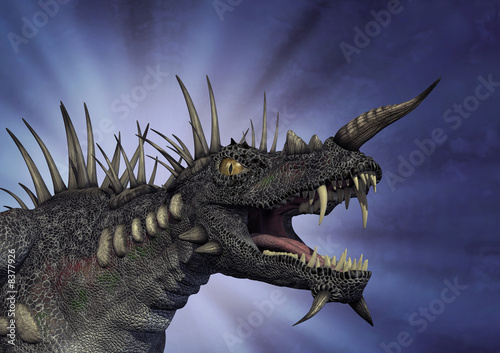 Spiky Dragon with Background