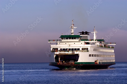 Seattle ferryboat to Bainbridge island in Washington state - 8382160