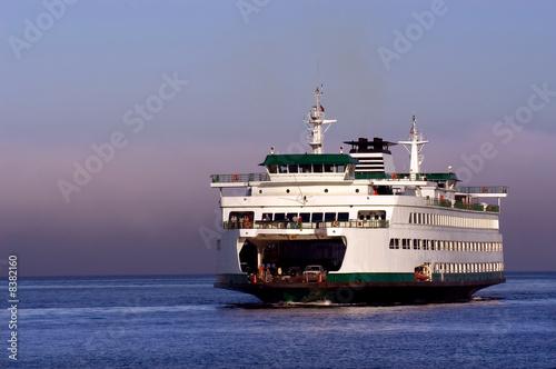 Leinwandbild Motiv Seattle ferryboat to Bainbridge island in Washington state