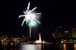 Fireworks exploding over city of Pittsburgh