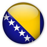 Bosnia & Herzegovina flag button poster