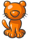 Orange Kitty Cat poster