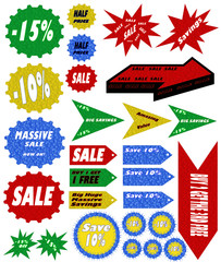 Promotional Retail Symbols & Signs