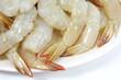Detaily fotografie Krevety a čerstvé jídlo Raw