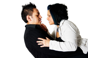 Young Couple Embracing Romatically