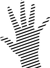 simple hand silhouette made from lines