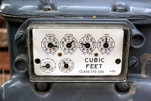 Leinwandbild Motiv Natural Gas Meter Panel