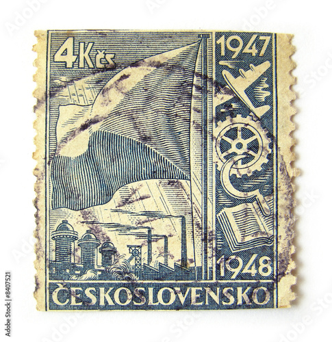 Photo: Czechoslovakia Postage Stamp © Flavia Morlachetti #
