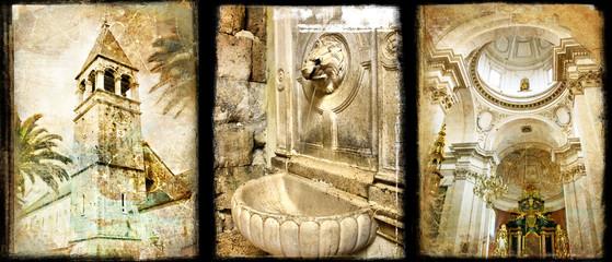 old Croatia - vintage collage