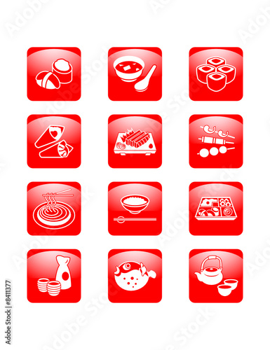 Japanese sushi-bar or restaurant icons | ASCENT series