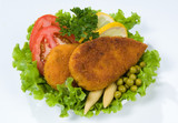 Cutlets And Greenery poster