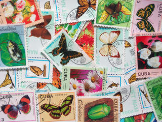 Collection of stamps 01