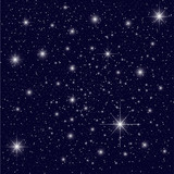 Night Sky with Stars poster