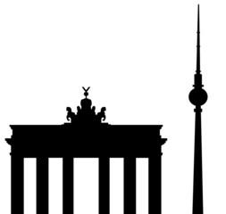 Brandenburger Tor und Fernsehturm Berlin