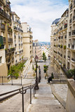 Common French street with buildings poster