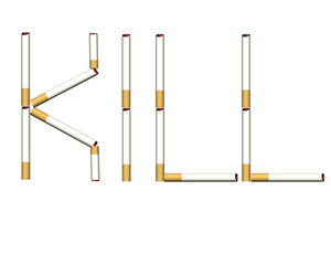 smoking kills 3d cigarettes