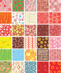 Set stylish and universal backgrounds.Vector.
