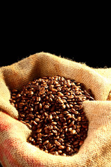 coffee isolated on black