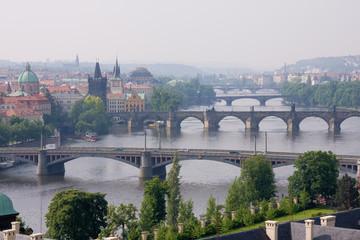 bridge over vltava in prag