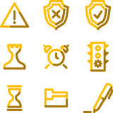 Administration icons, gold contour series poster