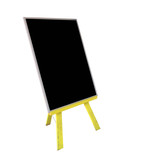 Easel Style notice board with copy space with clipping path poster
