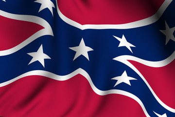 Rendered Confederate Flag