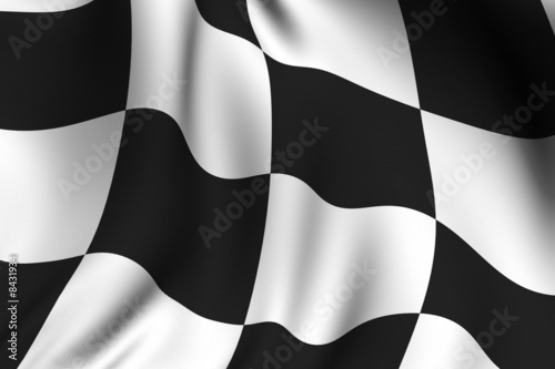 Foto op Plexiglas F1 Rendered Chequered Flag