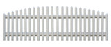 Seamless picket fence cutout poster