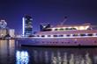 Luxury yacht in Dubai Creek, United Arab Emirates
