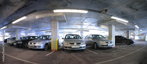 panorama of car`s parking