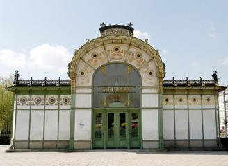 ANCIENT KARLSPLATZ SUBWAY SATION IN VIENNA
