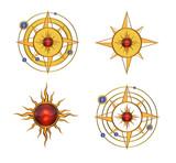 Four Solar Astral Symbols poster