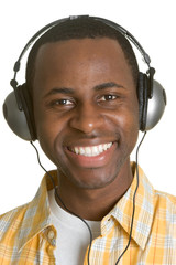 Smiling Headphones Man