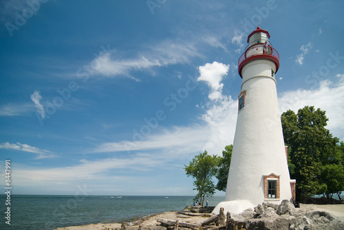 Foto Spatwand Grote meren Lighthouse