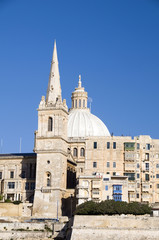 view historic buildings grand harbor valletta malta