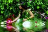 Fototapety Enchanted Garden(night time misty feeling)