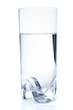 Glass with water, isolated