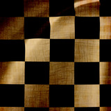damaged checkered background poster