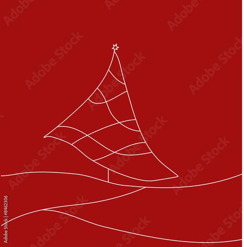stilisierter weihnachtsbaum auf rot vektor stockfotos. Black Bedroom Furniture Sets. Home Design Ideas