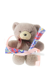Teddy Bear with Party Trumpets