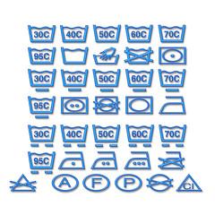 Wäscherei Reinigungs Symbole