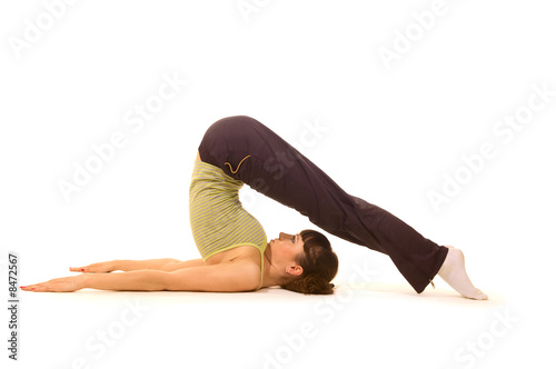 woman practise yoga