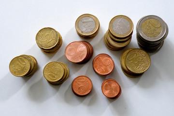 2, 1 Euro - 50, 20, 10, 5, 2, 1 Cent